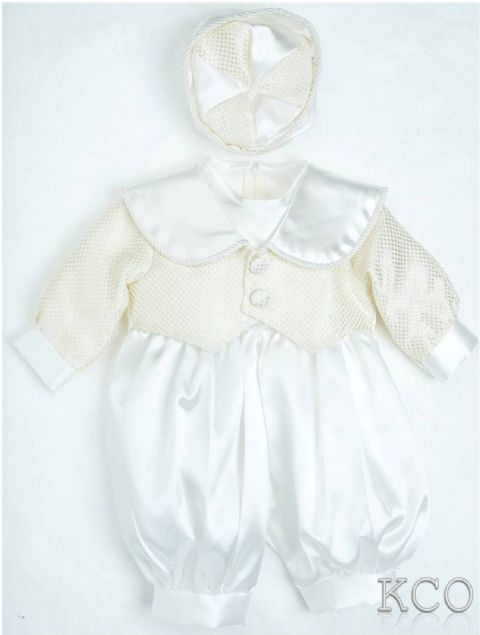 Cubed Romper Gold/Ivory~ Boys Suits